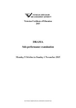 Victorian Certi cate of EducationMonday 5 October to Sunday 1 November PowerPoint PPT Presentation