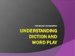 Understanding Diction and