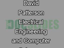 DirectionOptimizing BreadthFirst Search Scott Beamer Krste Asanovi c David Patterson Electrical Engineering and Computer Sciences Department University of California Berkeley sbeamerkrstepattrsn eecs