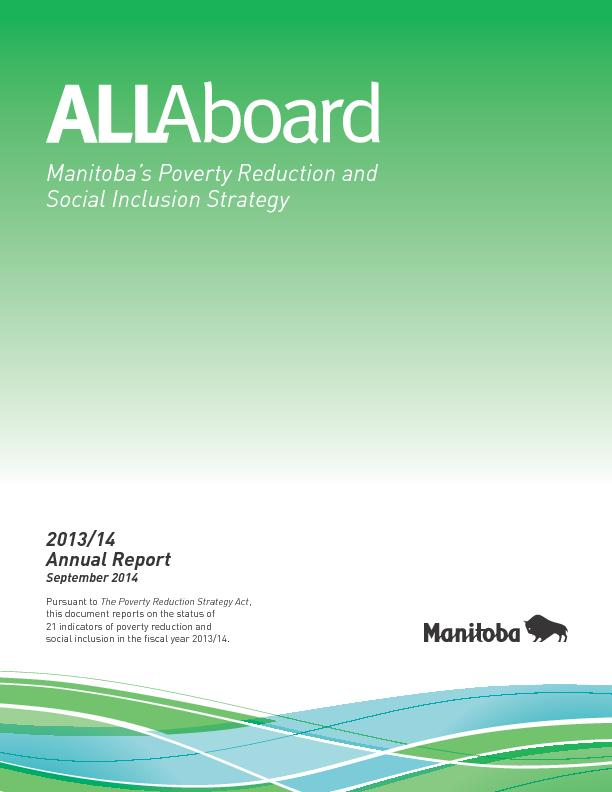 Manitoba's Poverty Reduction and Social Inclusion Strategy ...