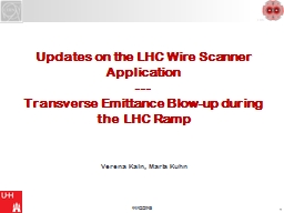 Updates on the LHC Wire Scanner Application