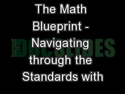 The Math Blueprint - Navigating through the Standards with