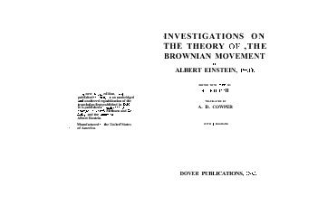 new edition published an unabridged unaltered republication of the translation first published in It is published Methuen and and the Albert Einstein