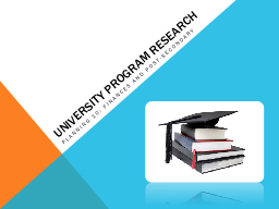 University Program Research