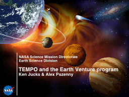 TEMPO and the Earth Venture program PowerPoint PPT Presentation