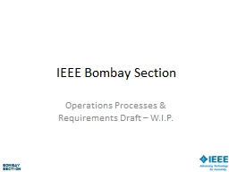 IEEE Bombay Section PowerPoint PPT Presentation