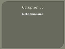 Chapter 15 PowerPoint PPT Presentation