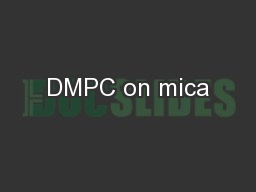 DMPC on mica PowerPoint PPT Presentation