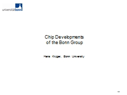 Chip Developments