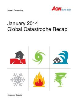 January  Global Catastrophe Recap  Impact Forecasting January  Global Catastrophe Recap Table of Contents Executive Summary United States Remainder of North America Canada Mexico Caribbean Bermuda So
