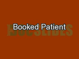 Booked Patient