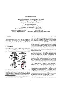 LeaderFollowers A Design Pattern for Efcient Multithreaded IO Demultiplexing and Dispatching Douglas C