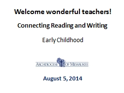 Welcome wonderful teachers!