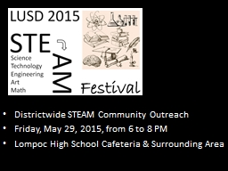 Districtwide STEAM Community Outreach