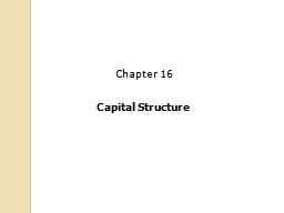 Capital Structure PowerPoint PPT Presentation