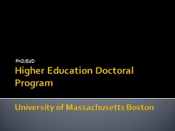 Higher Education Doctoral Program