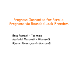 Progress Guarantee for Parallel Programs via Bounded Lock-F