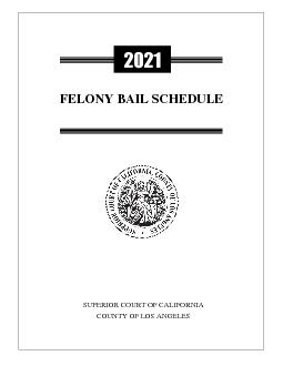 FELONY BAIL SCHEDULE