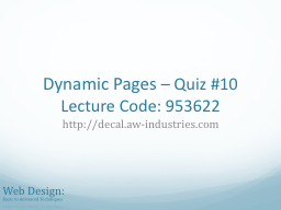 Dynamic Pages PowerPoint Presentation, PPT - DocSlides