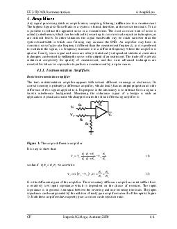Any signal processing such as amplification sampling filtering noise to a measurement