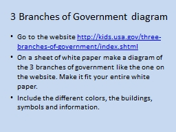 3 Branches of Government diagram PowerPoint PPT Presentation