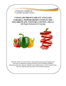 Costs and Profitability Analysis