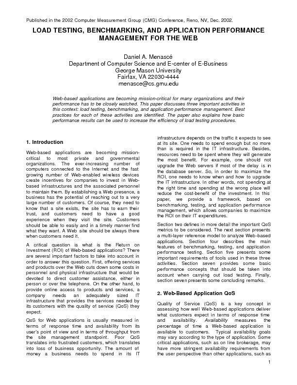 Published in the 2002 Computer Measurement Group (CMG) Conference, Ren