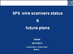 SPS wire scanners status PowerPoint PPT Presentation