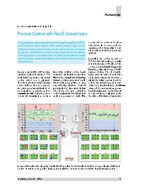 Process Control with FlexIS closed loops Since a few years measurement systems like Plunger Process Control PPC and Temperature Control System TCS provide valuable insight into the production process