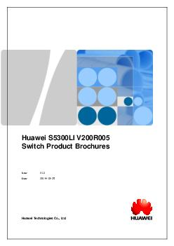 Huawei S  LI VR Switch Product Brochures Issue V