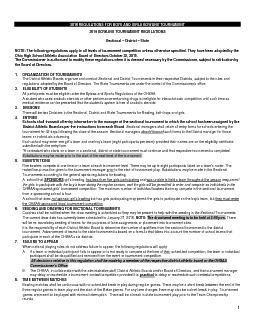 2016 REGULATIONS FOR BOYS AND GIRLS BOWLING TOURNAMENT 2016 BOWLING TO