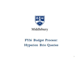 FY16 Budget Process: PowerPoint PPT Presentation