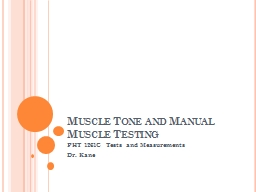Muscle Tone and Manual Muscle Testing
