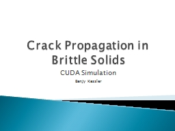 Crack Propagation in Brittle Solids