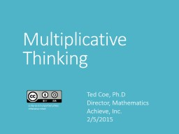 Multiplicative Thinking