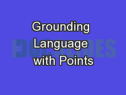 Grounding Language with Points
