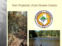 1 Four Proposals from Oconee County
