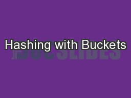 Hashing with Buckets PowerPoint PPT Presentation