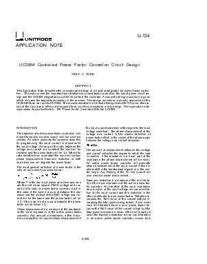 APPLICATION NOTE U UC Controlled Power Factor Correction Circuit Design PHILIP C