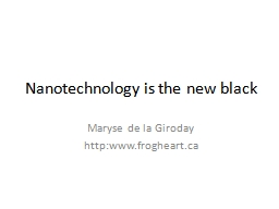 Nanotechnology is the new black