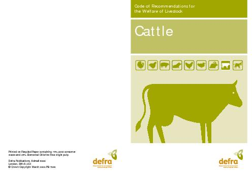 the Welfare of LivestockPrinted on Recycled Paper containing 75% post PowerPoint PPT Presentation