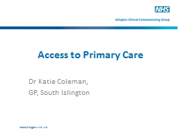 Access to Primary Care PowerPoint PPT Presentation