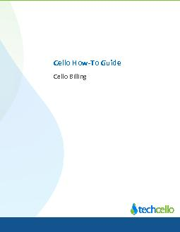 Cello Billing