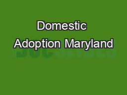 Domestic Adoption Maryland