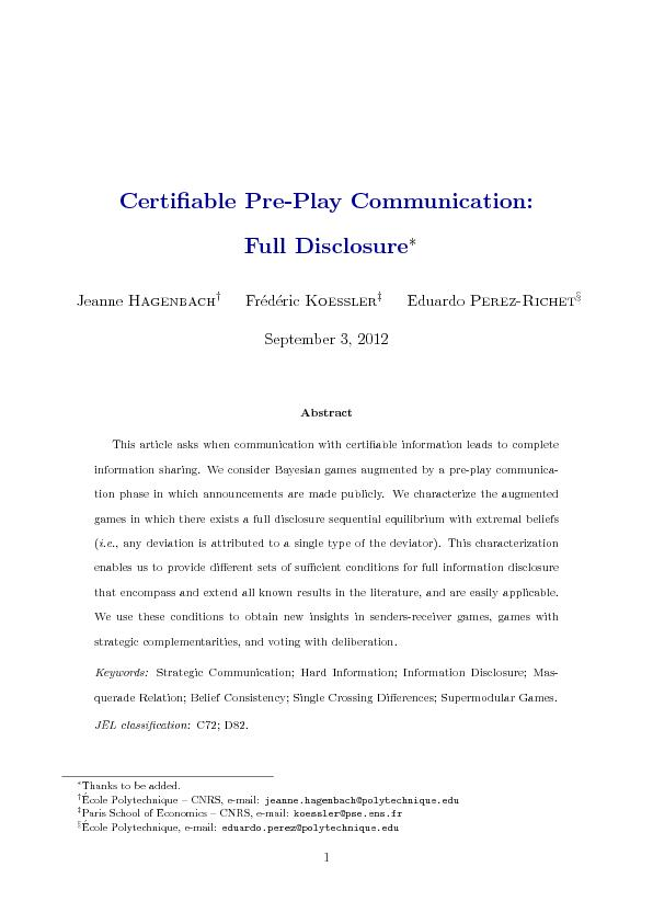 CertiablePre-PlayCommunication:FullDisclosureJeanneHagenbachyFrede