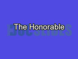 The Honorable