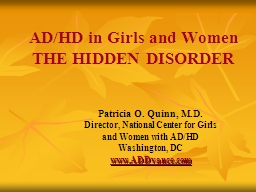 AD/HD in Girls and Women