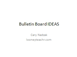 Bulletin Board IDEAS PowerPoint PPT Presentation