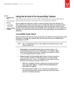 Adobe Acrobat X Accessibility Using the PDF Accessibility Checker ...