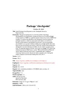 2checkpoint-packageRepositoryCRANDate/Publication2015-09-1508:43:15Rto PowerPoint PPT Presentation